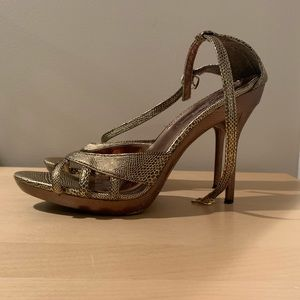 Shoes - 8.5 Gold Strappy Heels